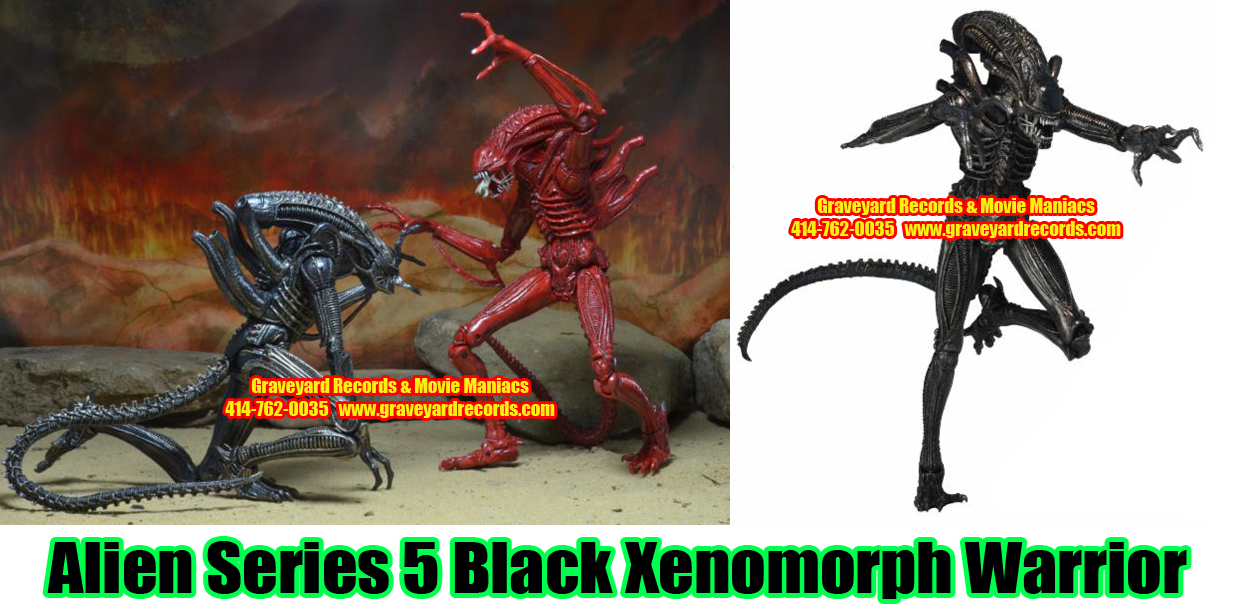 "8"" Aliens Series 5 Black Xenomorph Warroir Alien"