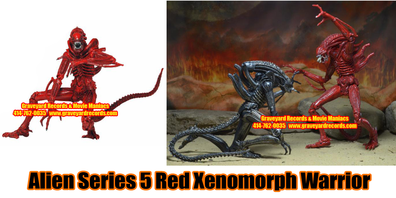 "8"" Aliens Series 5 Red Xenomorph Warroir Alien"