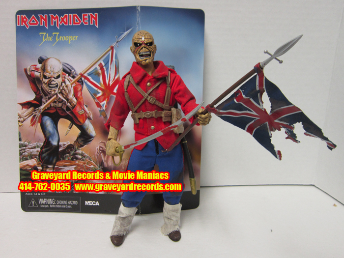 "8"" Iron Maiden The Trooper Retro Style Figure **OPENED **"