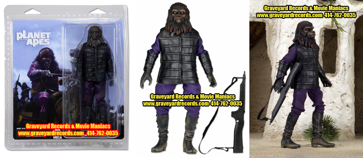 "8"" Planet Of The Apes Gorilla Solider Retro Style Figure"